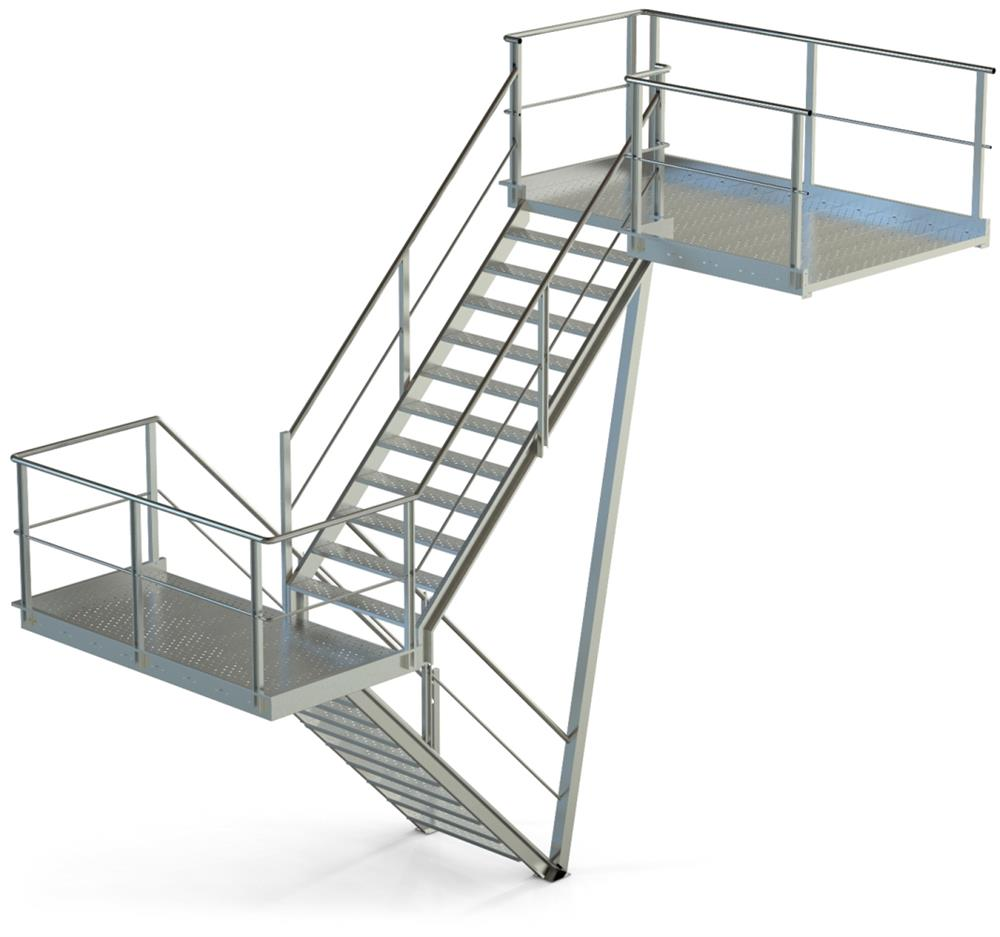 Manufacturing walking gratings, platforms, and staircases for safe