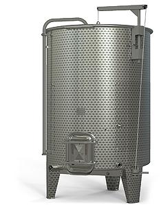 prelivni vinifikator odprt